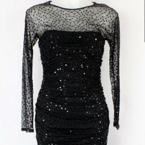 Like new! Black sequined dress